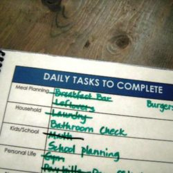 notebook daily to do list