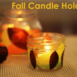 Fall Candle Holders Life as MOM