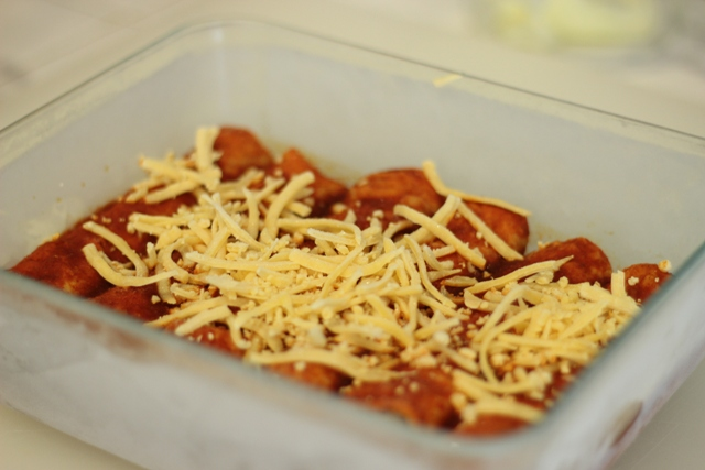Freezer Meal enchiladas