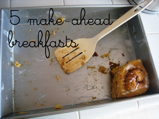 5 make ahead breakfasts