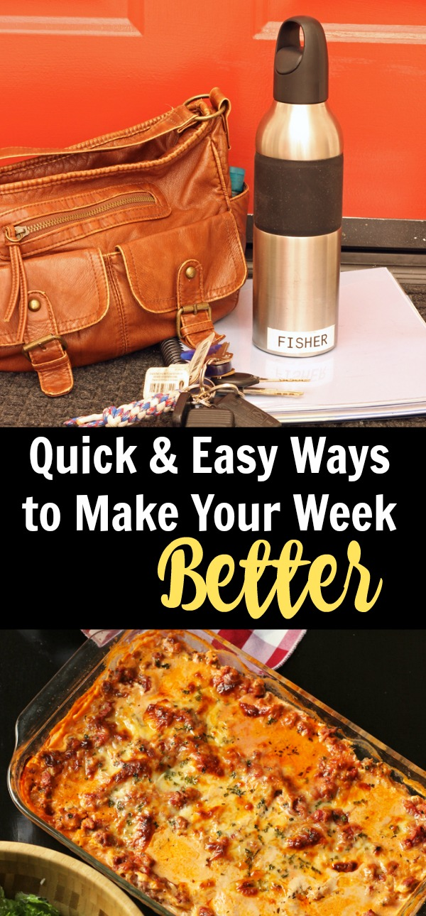 9 Quick & Easy Ways to Make Your Week Better | Life as Mom