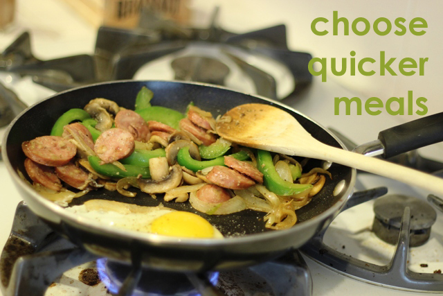 Choose Quicker Meals to Save Time | Life as MOM