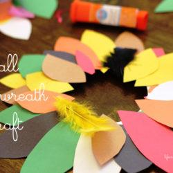 Fall Leaf Wreath Paper Plate Craft