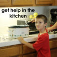 Get help in the kitchen