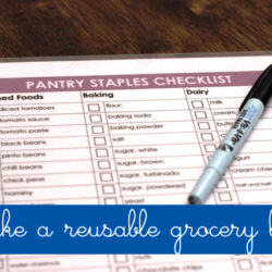 Make a Reusable Grocery List to Save Time in the Kitchen