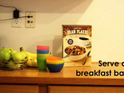 Serve a Breakfast Bar to Save Time