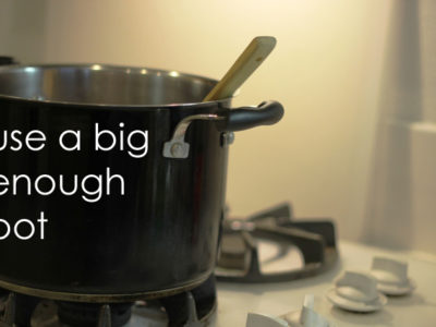 Use the Big Pot to Save Time