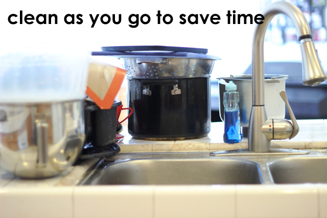 clean as you go and save time