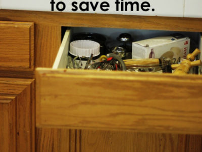 Dejunk the Kitchen and Save Time