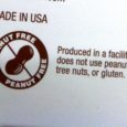 peanut warning