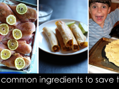 Use Common Ingredients to Save Time | Life as MOM