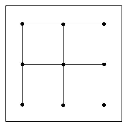3 Mens Morris Board Lines - standard