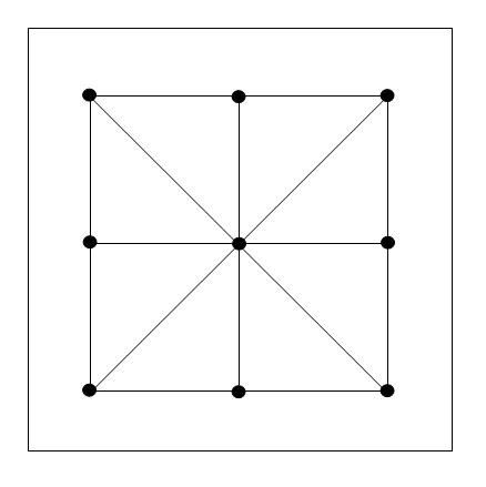 3 Mens Morris Board Lines - variation