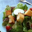 Salad with Garlic Cheese Croutons