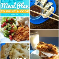 Weekly Meal Plan to Print and Cook #31 | Life as MOM