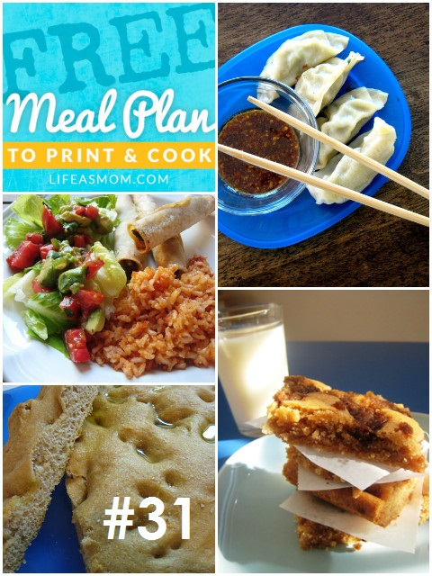 Weekly Meal Plan with Grocery List #31   Life as MOM