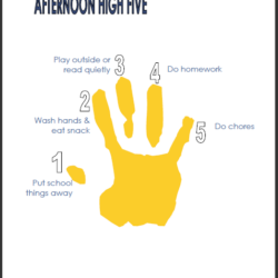 Afternoon High Five Printable | Life as MOM