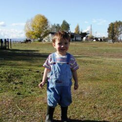 boy on farm life is good