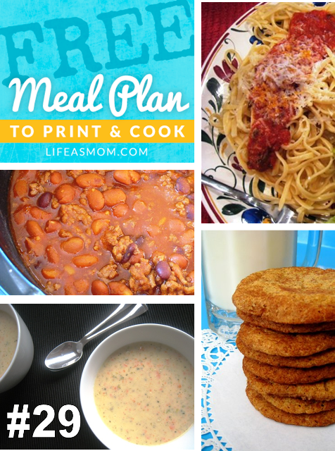 Weekly Meal Plan with Grocery List #29 | Life as MOM