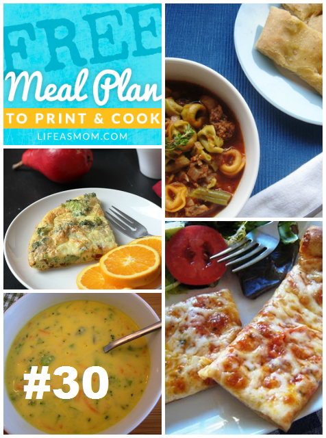 Weekly Meal Plan to Print & Cook #30 | Life as MOM