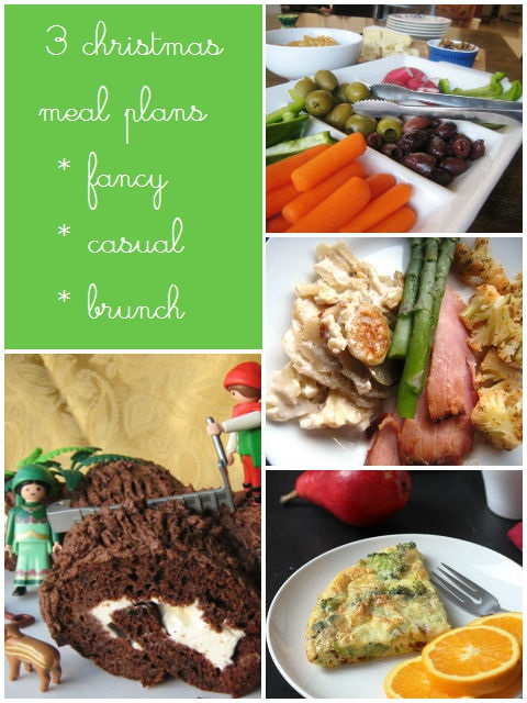 3 Free Printable Christmas Menus - download this free printable meal for easy, make-ahead meals on Christmas
