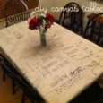DIY Tablecloth from Canvas Drop Cloth | Life as MOM