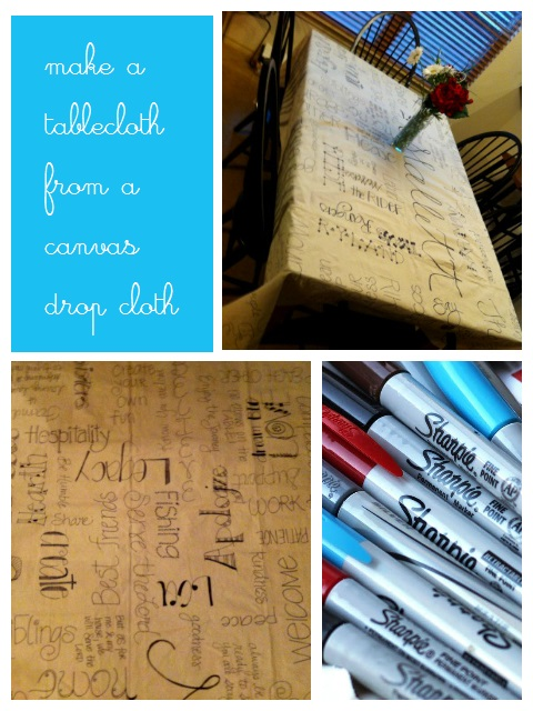Make a Tablecloth from a Canvas Drop Cloth | Life as MOM