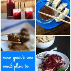 New Year's Eve Meal Plan to Print & Cook