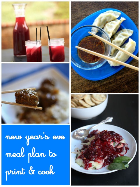 New Year's Eve Meal Plan to Print & Cook | Life as MOM