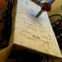 DIY Christmas Gift Canvas Tablecloth