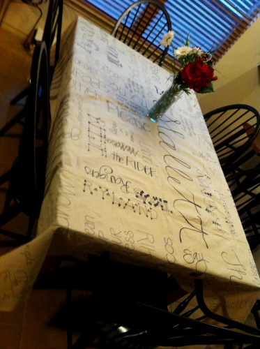 DIY Christmas Gift Canvas Tablecloth