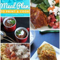 Weekly Meal Plan with Grocery List | Life as MOM