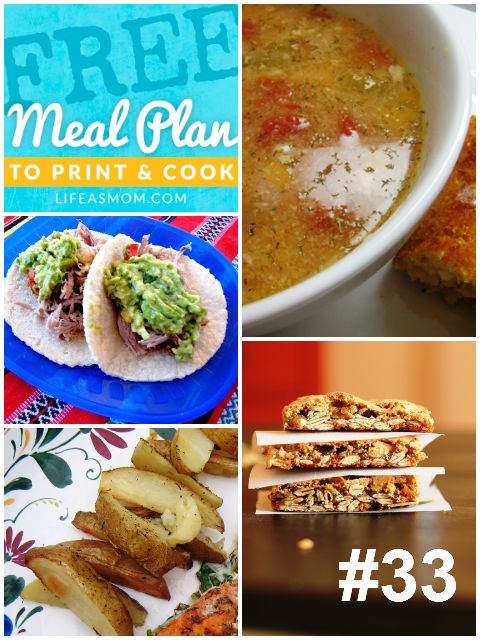 Weekly Meal Plan to Print & Cook #33: All Slow Cooker Meals!