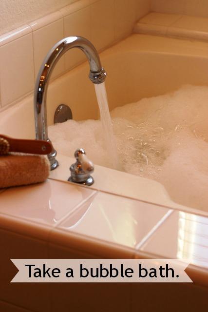 Quick Ways to Calm It Down: Take a Bubble Bath