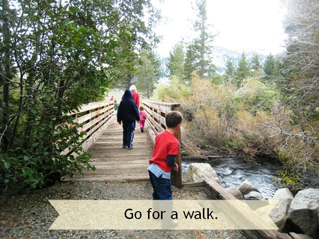 Quick Ways to Calm It Down: Go for a Walk