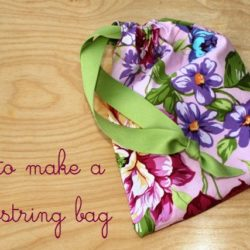 how to make a drawstring bag for gifts | Life as MOM