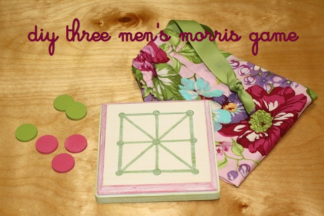 Diy Three Men S Morris Board Game Homemade Board Games