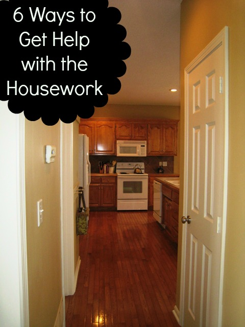 6 Ways to Get Help with the Housework - No mom is an island. Here are 6 ways to get help with your housekeeping.
