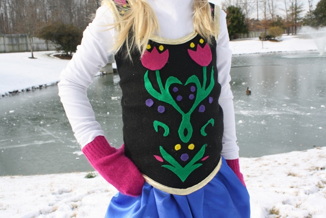 "DIY Frozen Anna Costume | Life as MOM - Create this simple and inexpensive costume for your daughter to play ""Anna"" from the Disney film, Frozen."