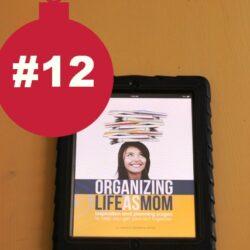 Christmas, Day 12: Organizing Life as MOM