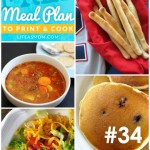 Weekly Meal Plan with Grocery List #34 (Features Pantry Staples) | Life as MOM