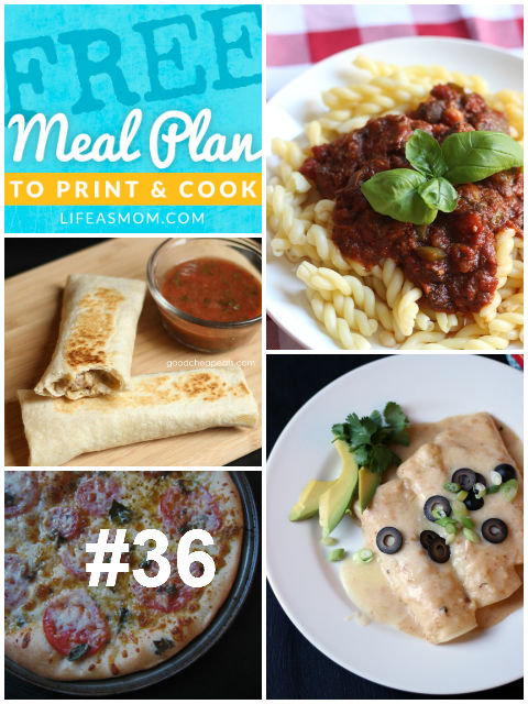 Weekly Meal Plan and Grocery List #36 | Life as MOM