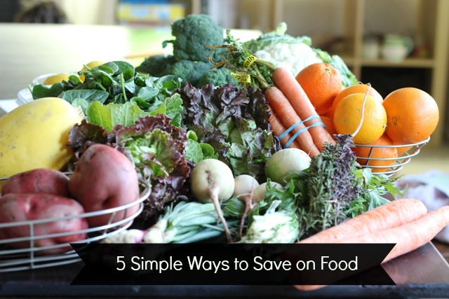 5 Simple Ways to Save on Food - Groceries are one of the biggest spending categories where you can save. You can't control prices, but how you shop and feed your family can save you money.