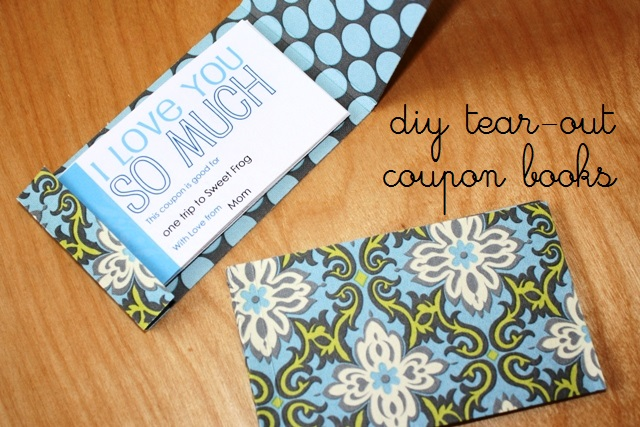 Make a Tear-Out Coupon Book | Make a Book of Coupons