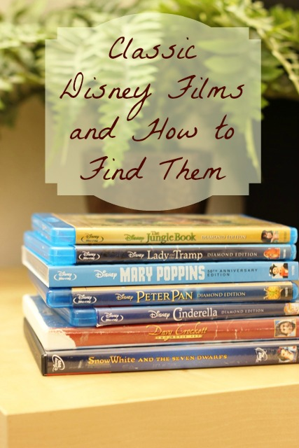 Favorite Classic Disney Films - A round-up of great classic Disney films and what format they are still available in.