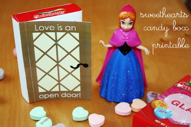 Make a Frozen Themed Valentine's Card with Sweethearts Candy Box | Life as MOM