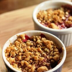 Personal Cherry Crumbles