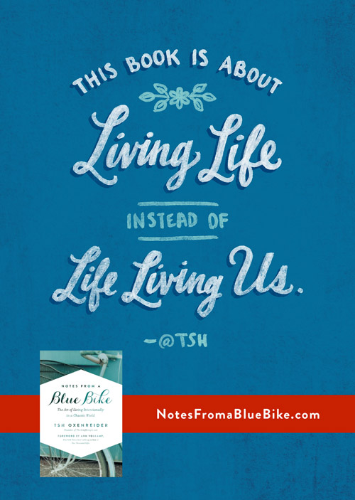 Living Life By Accident - Thoughts on change and living life instead of letting it just happen to me. Also a review of Tsh's new book.