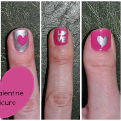 Easy Valentine's Day Manicure
