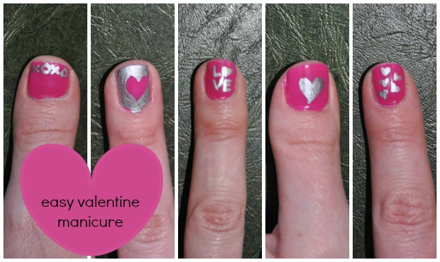 Valentine Nail Collage